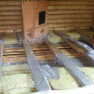 Монтаж деревянных полов с утеплением Слуцк и район