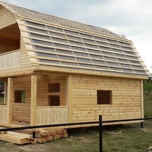 Дома из бруса Артем 6×8 с установкой в Слуцке